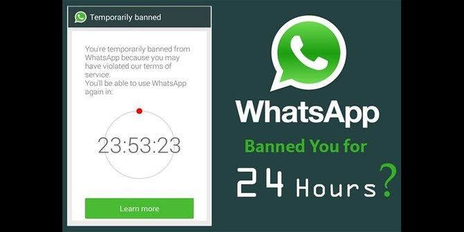 Whatsapp di blokir secara sementara berikut cara mengatasi hal tersebut, cara ini di jamin dapat membbuka akun whatsapp yang di blokir sementara