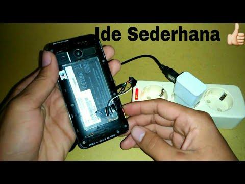 Cara Membuat hp menyala tanpa baterai